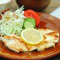 鶏胸肉ソテーのレモンバター醤油ソース