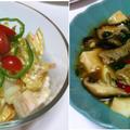 オレンジ白菜の明太マヨサラダ、豚肉と豆腐のオイスターソース煮込み、タラとジャガイモの潮汁