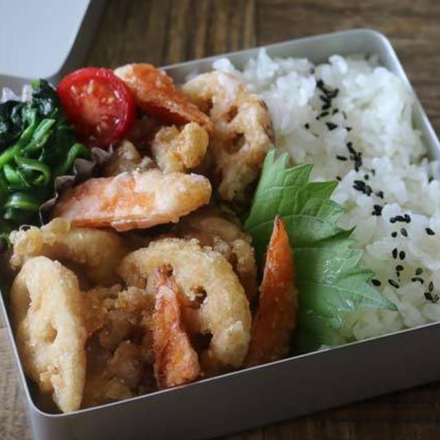 お箸が止まらない鶏肉と根菜の唐揚げ弁当のレシピと詰め方