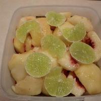 白桃のライム漬け