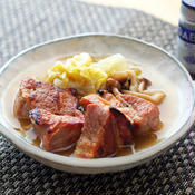 クローブ香る、塩豚と白菜のポトフ