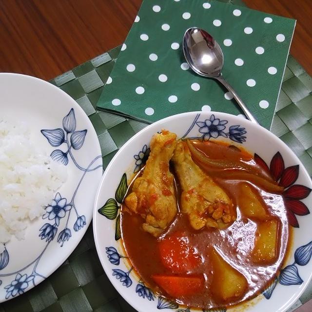 1行レシピ★ノンオイル★チキンスープカレー