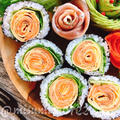 【レシピ動画】お花の巻き寿司 by Misuzuさん