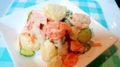 紫玉ねぎとヨーグルトで、美味しいポテトサラダ♪