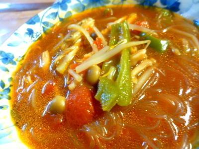チリトマ春雨スープのレシピ