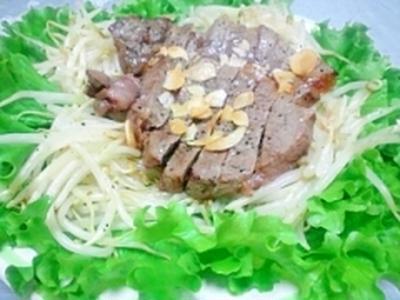 簡単☆オーブントースターdeステーキ