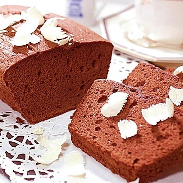 簡単パウンドケーキを豪華に見せる裏技♪【濃厚チョコレートパウンドケーキ】と【天使の羽根】  by HiroMaru