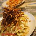 白菜のイタリアンサラダ ごぼうのチップスのせ