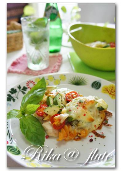 夏野菜のカラフルグラタン