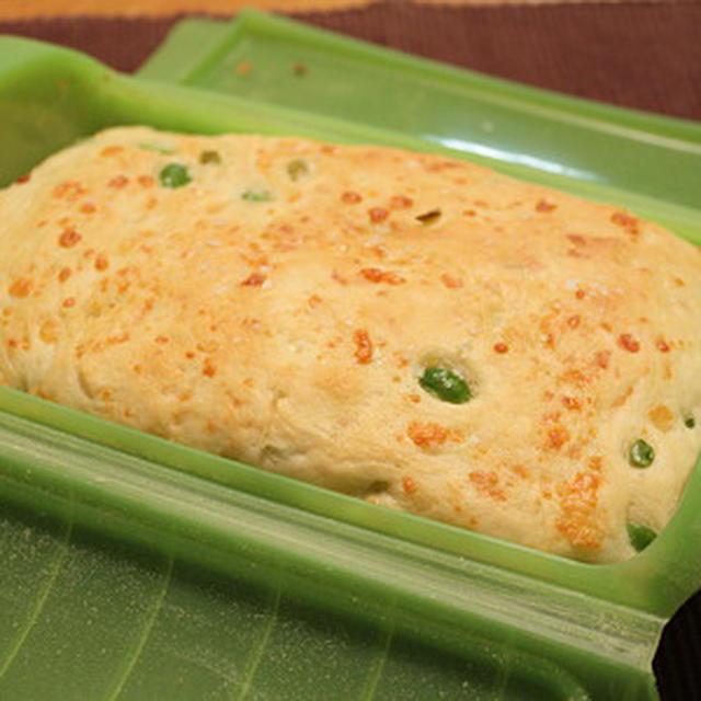 ルクエで作る、枝豆チーズフォカッチャ♪