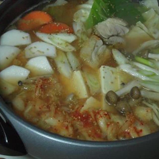 キムチ鍋、寒波が来た日、突然に!