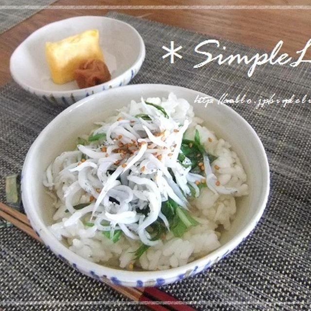 今朝の朝ごはん☆は、ささっと和食な朝ごはん~