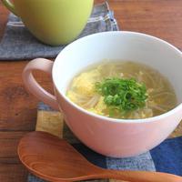 ほっこり簡単☆もやしと卵の生姜スープ