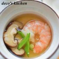 海老と椎茸のあんかけ茶碗蒸し。 + BRITAのお水で、ほのぼの和む和定食♪