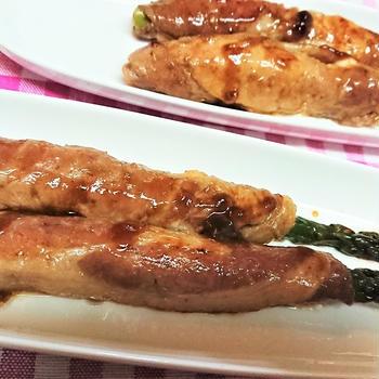 【レシピ】簡単!旬のアスパラで!【アスパラのチーズ肉巻き】1本ままで豪快に!
