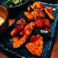 カボチャの甘みが活きてる♪鶏肉とカボチャのコチュジャン炒め
