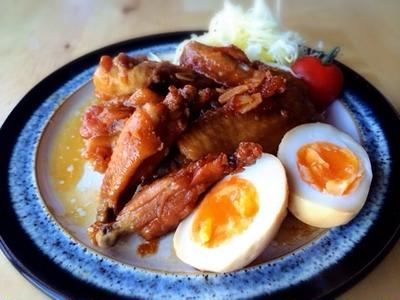 鶏手羽三兄弟のマーマレード煮