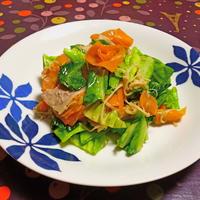 春キャベツと豚バラ肉の胡麻炒め