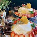 クリスマスケーキレッスンが続きます・・今年はクレープでドーム型ケーキです!!