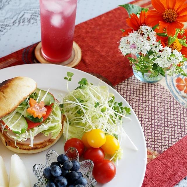 【THE.朝ご飯】超姉さんから頂いたパンで 簡単に美味しく戴きました^^