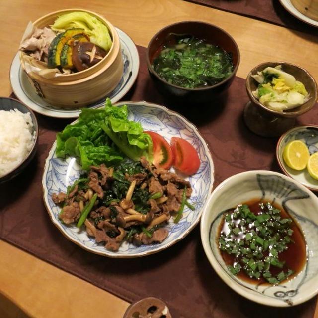 腹八分目~なシンプル和食の晩御飯 と 柿・柿・柿♪