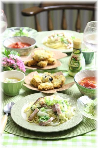 【レシピ・リンク】白菜のカルボナーラ。と 献立。と 忍者学校。