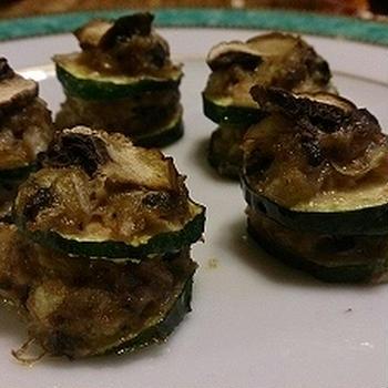 ズッキーニの肉はさみオーブン焼き
