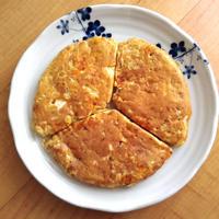 キャベツとミモレットのパンケーキ。(-ε-)