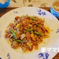 昆布の佃煮入りガーリックチャーハン♪ Fried Rice