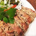 高野豆腐+レンコンでヘルシーな和風ミートローフ・・日々の食卓・おもてなしにいいですよ!!