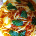 トマトとモッツァレラチーズのスパゲティー