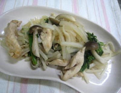 大根と鶏肉の炒め蒸し