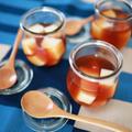 後味すっきり、甘ったるくない☆ひんやり簡単おうちカフェ、紅茶ミルクゼリー♪
