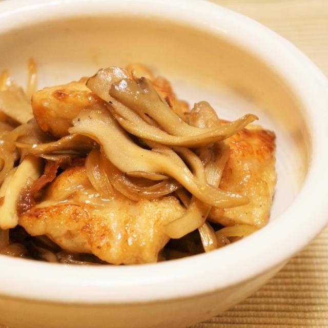 鶏むね肉と舞茸の甘酢炒め