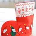 大豆粉のクリスマスクッキー☆可愛いブーツに入れてプレゼント♡