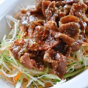 豚こま肉のピリッと甘辛のっけサラダ