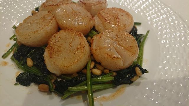 4. ホタテ貝柱と根菜のソテー