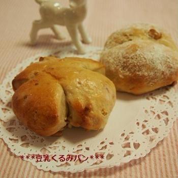 豆乳くるみパン