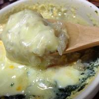 <とろ~りチーズと卵で和風リゾット風>「わかめスープを簡単アレンジ ちょいたしアレンジレシピコンテスト」