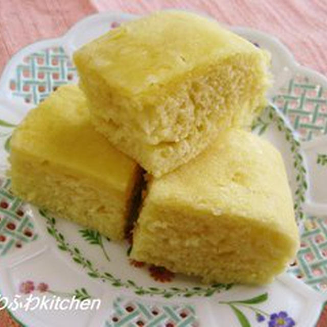 ルクエでチーズ蒸しパンモーニング