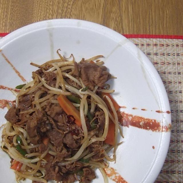 牛肉と野菜のオイスターだけ炒め