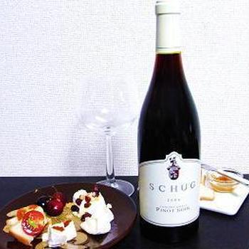 ソノマのワインとカマンベール