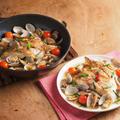 真鯛とあさりの和風アクアパッツア、フライパン一つで簡単レシピ
