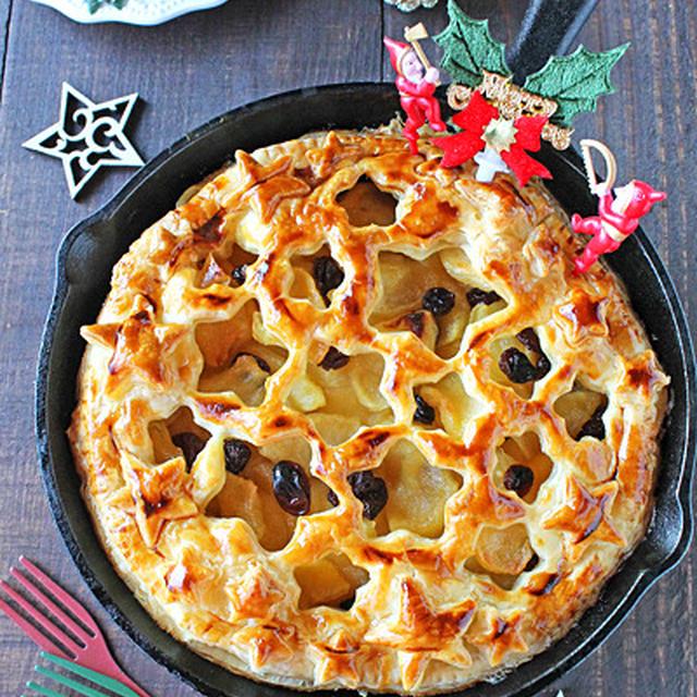 スキレットで星のチーズカスタードアップルパイ☆コッタクリスマスお菓子特集に掲載