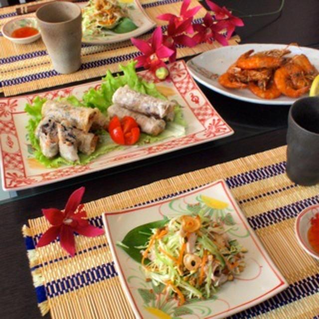 揚げ春巻き等でおうちベトナム料理