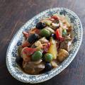 茄子とズッキーニの甘酸っぱい炒め煮(カポナータ風)