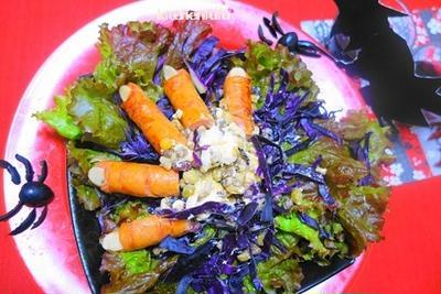ホラー飯★ハロウィンの全然かわいくないサラダ