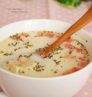 レンジでチン ♪ 簡単ミルクスープ