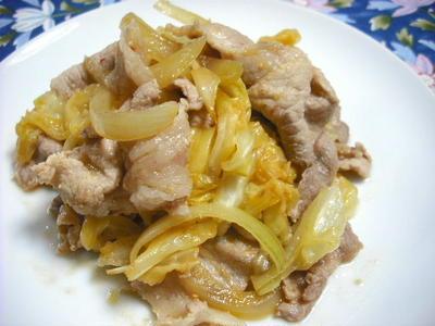 豚肉と春野菜のピリ辛味噌炒め