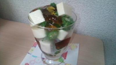 出汁ジュレで食べる塩豆腐カクテル